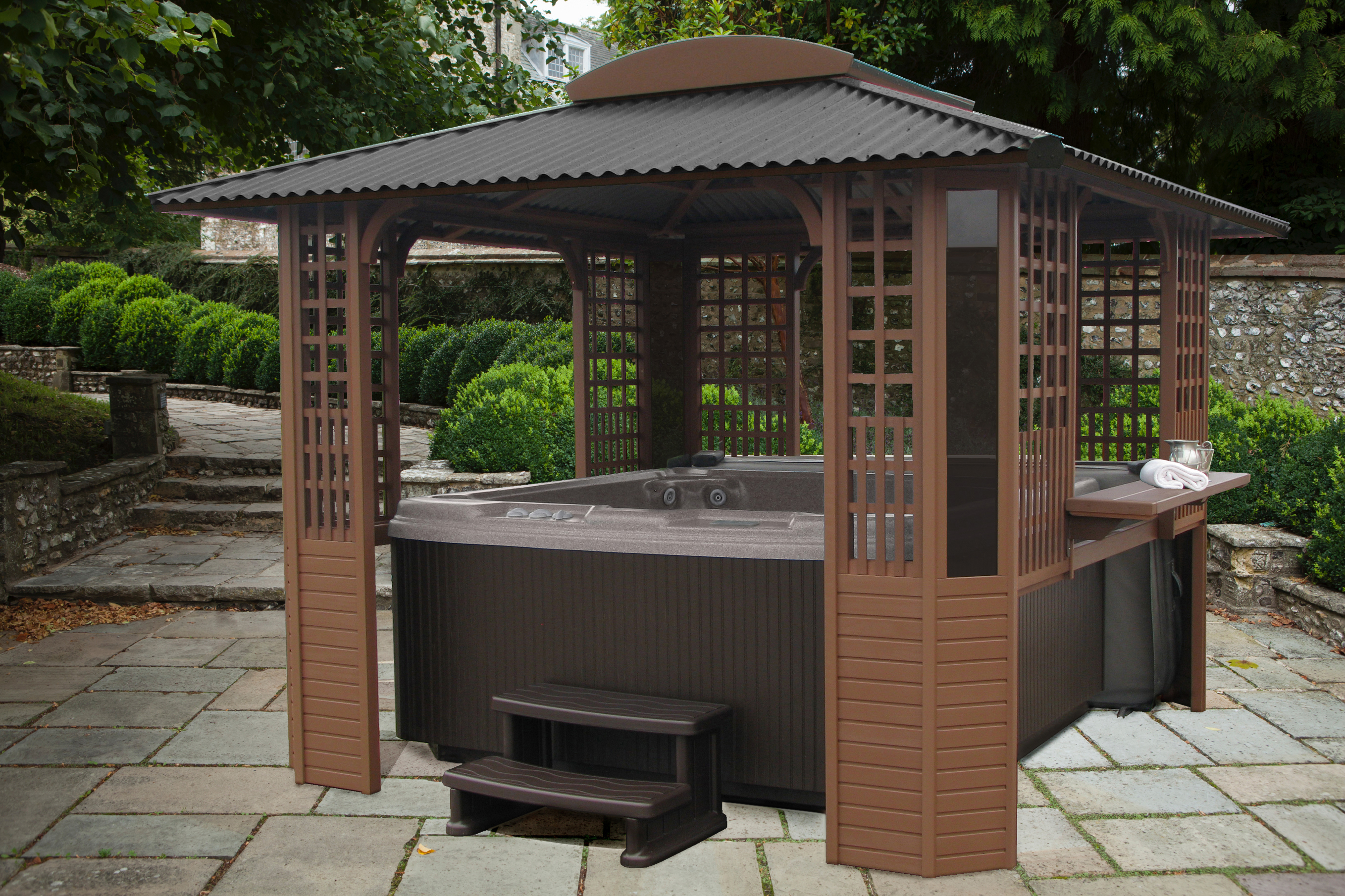Freestanding Tubtop Spa Gazebos and Hot Tub Enclosures by